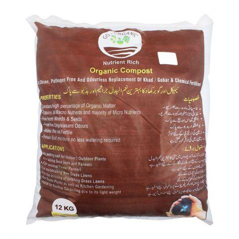Go-Organic Nutrient Rich Organic Compost, 12 KG