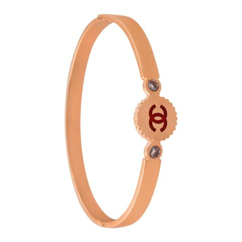 Channel Style Girls Bangle, Red, NS-012