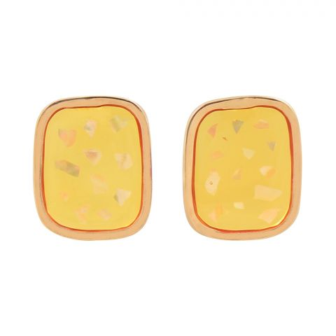 Girls Earrings, Yellow, NS-076