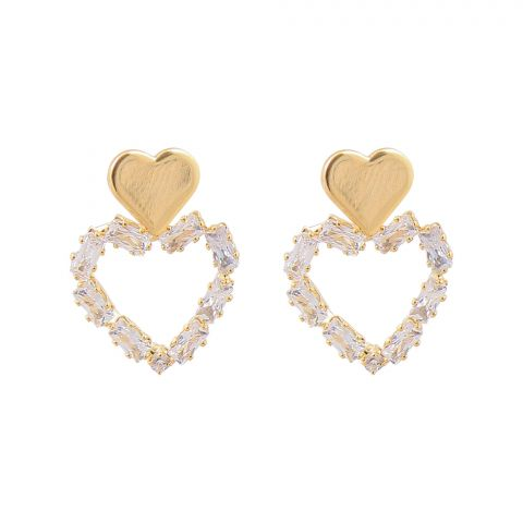 Girls Earrings, Heart, NS-078