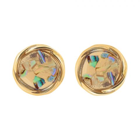 Girls Earrings, Golden/Multi, NS-082