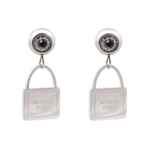 MK Style Girls Earrings, Silver, NS-096