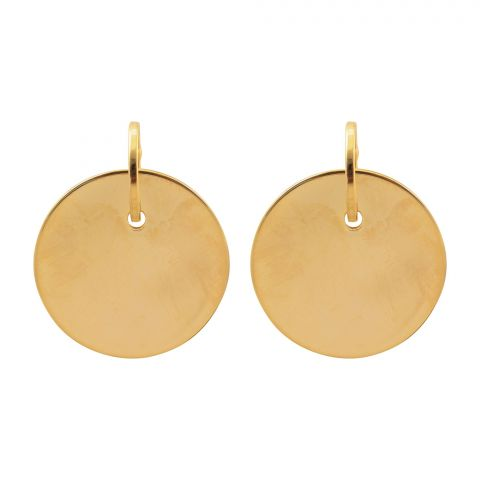 Girls Earrings, Golden, NS-098