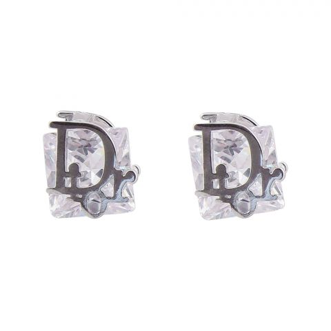 Dior Style Girls Earrings, Silver, NS-0106