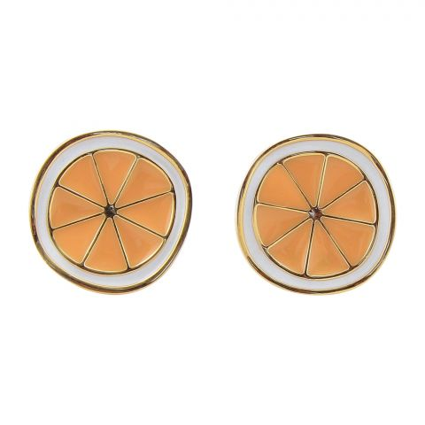 Girls Earrings, Orange, NS-0113