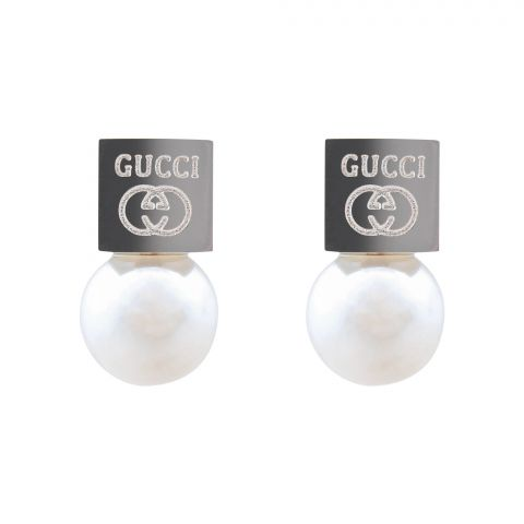 Gucci Style Girls Earrings, Silver, NS-0117