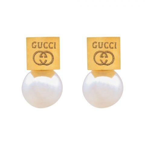 Gucci Style Girls Earrings, Golden, NS-0117