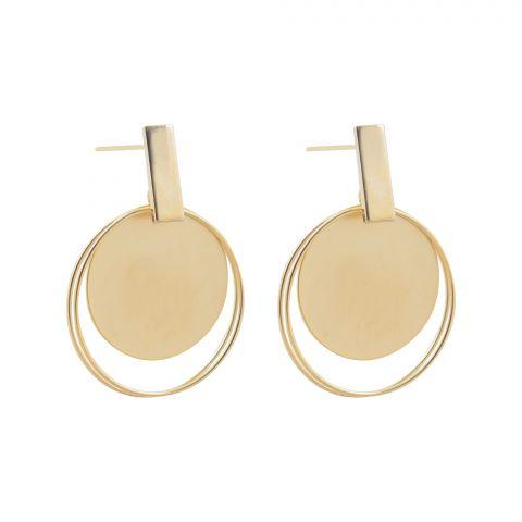 Girls Earrings, Golden, NS-0119