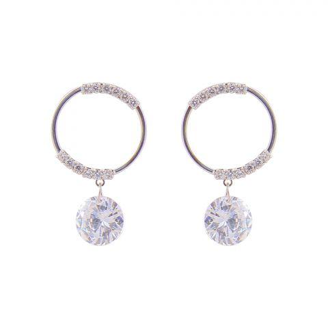 Girls Earrings, Silver, NS-0121