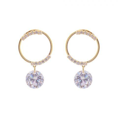 Girls Earrings, Golden, NS-0121