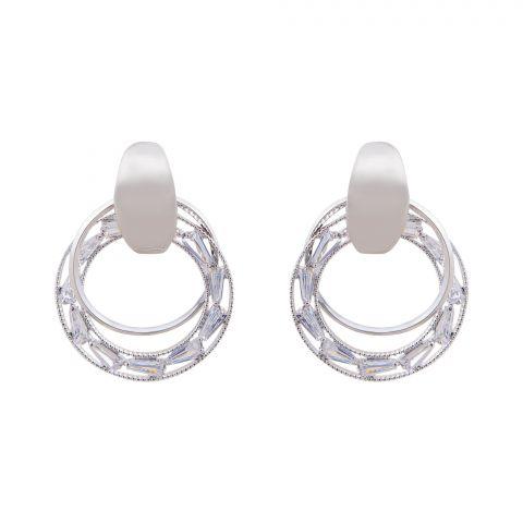 Girls Earrings, Silver, NS-0125