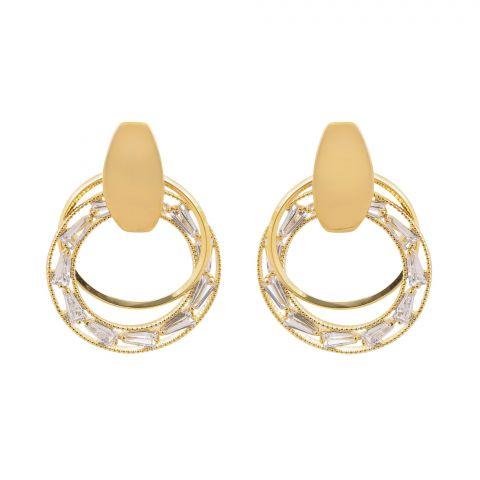 Girls Earrings, Golden, NS-0125