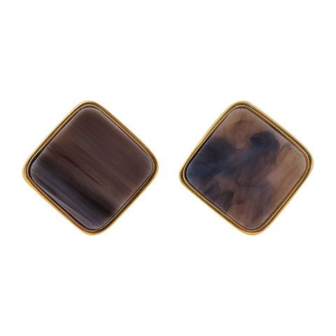 Girls Earrings, Brown, NS-0126