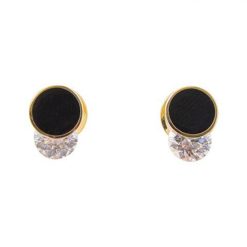 Girls Earrings, Golden, NS-0132