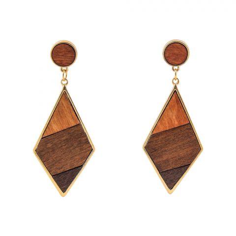 Girls Earrings, Brown, NS-0134