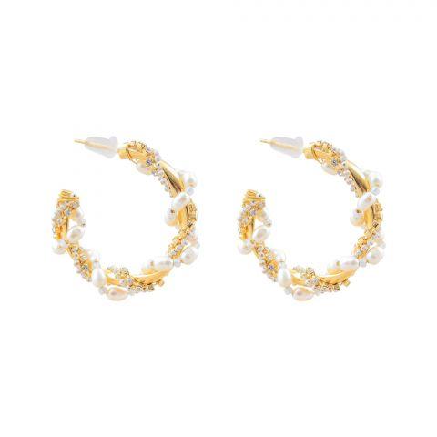 Pearl Bali Girls Earrings, NS-0136