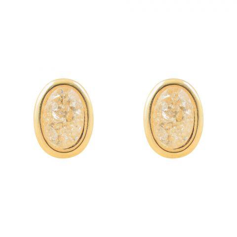 Girls Earrings, Golden, NS-0137