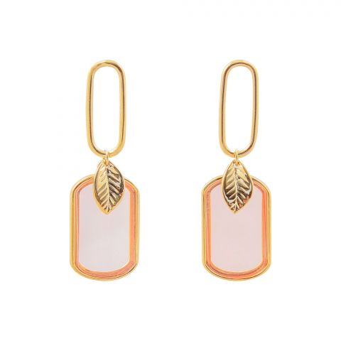 Girls Earrings, Peach, NS-0140