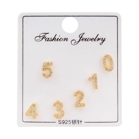 Girls Earrings, Golden, NS-0141