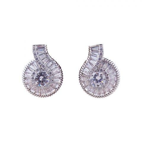 Girls Earrings, Silver, NS-0143