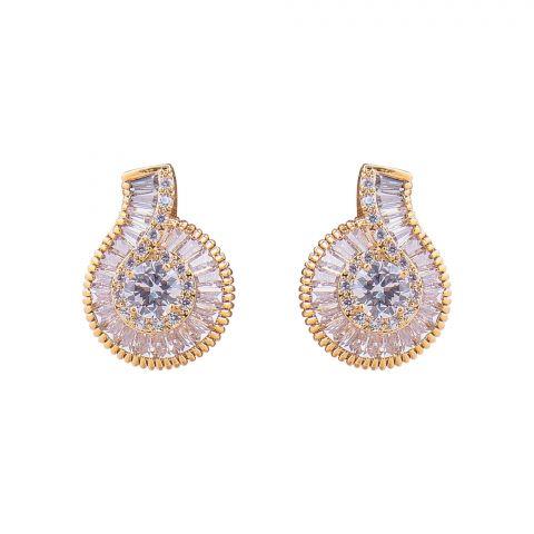 Girls Earrings, Golden, NS-0143