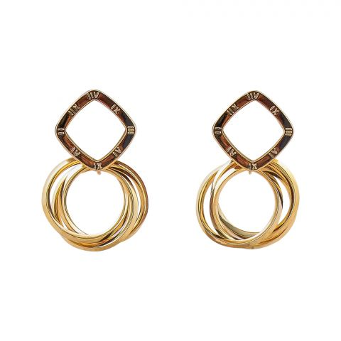 Girls Earrings, Circles, NS-0144