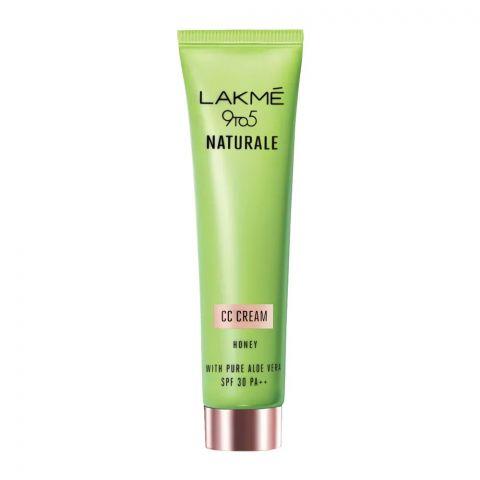 Lakme 9 To 5 Naturale CC Cream, SPF 30 PA++, Honey, 30g