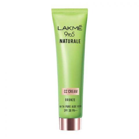 Lakme 9 To 5 Naturale CC Cream, SPF 30 PA++, Bronze, 30g