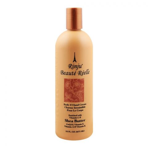 Rinju Shea Butter Body & Hand Cream, With Vitamin C, 473ml