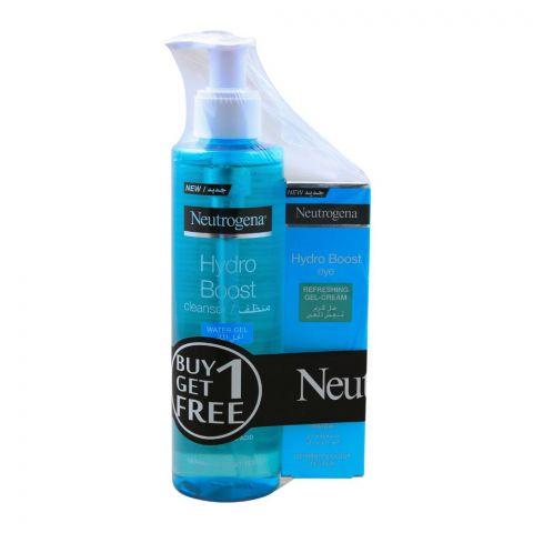 Neutrogena Hydro Boost Cleanser Water Gel 200ml + FREE Hydro Boost Eye Gel Cream