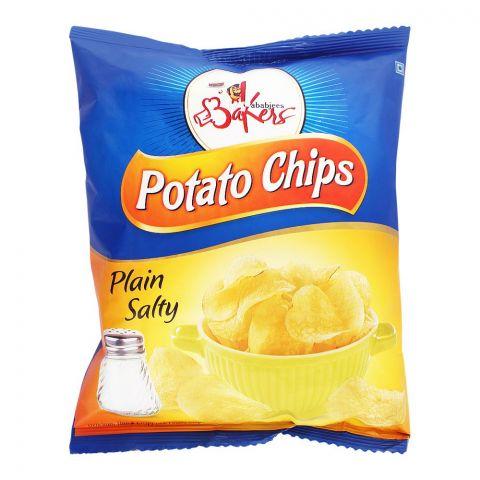 Bakers Potato Chips, Plain, Salty, 100g