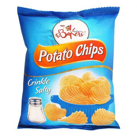 Bakers Potato Chips, Crinkle, Salty, 100g