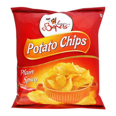 Bakers Potato Chips, Plain Spicy, 100g