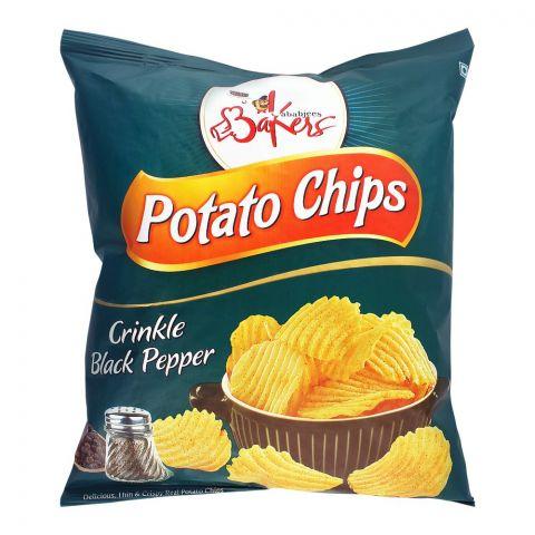 Bakers Potato Chips, Crinkle, Black Pepper, 100g