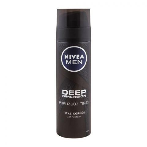 Nivea Men Deep Dimension Shaving Foam, 200ml