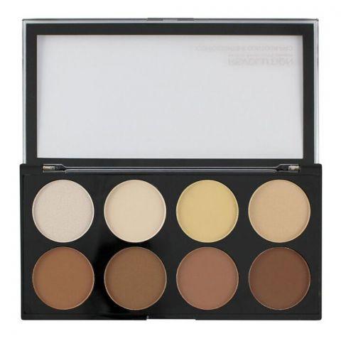 Makeup Revolution Iconic Lights & Contour Pro Blush Palette, 8 Shades