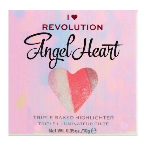 Makeup Revolution Angel Heart Triple Baked Highlighter, 10g