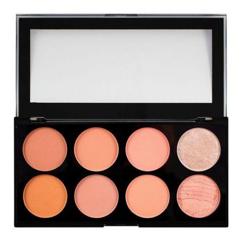 Makeup Revolution Blush Palette, Hot Spice, 8 Shades