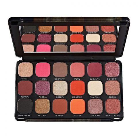 Makeup Revolution Eyeshadow Palette, Haunted House, 18 Shades