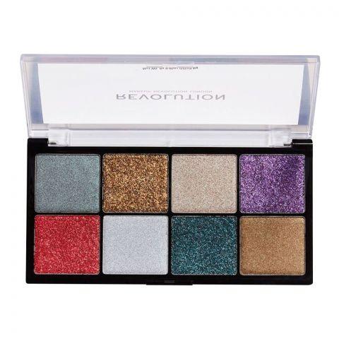 Makeup Revolution Possessed Glitter Palette, 8 Shades