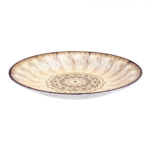 Sky Melamine Deep Plate, Brown, Quarter