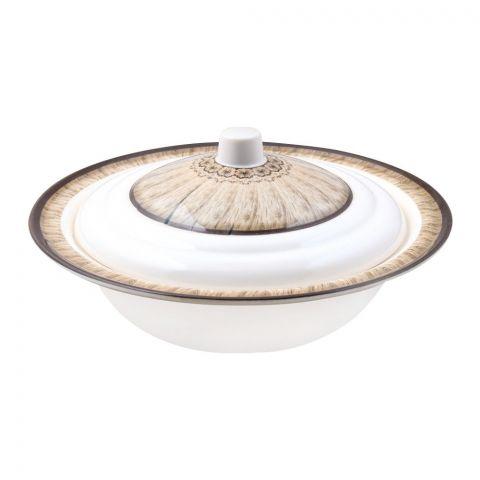 Sky Melamine Bowl With LID, Brown