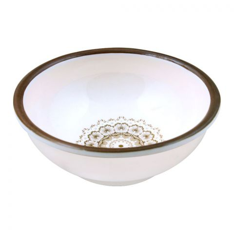 Sky Melamine Bowl, Brown, 4 Inches