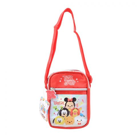 Tsum Love Kids Shoulder Bag, Red, TTB-378