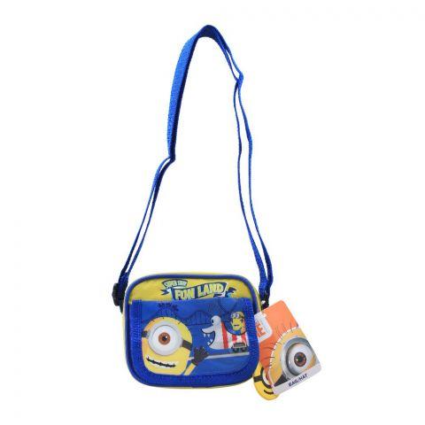 Minions Kids Shoulder Bag, Blue, DE-33216