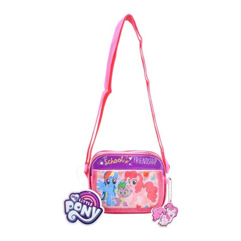 My Little Pony School of Friendship Girls Shoulder Bag, Pink, PN-72266