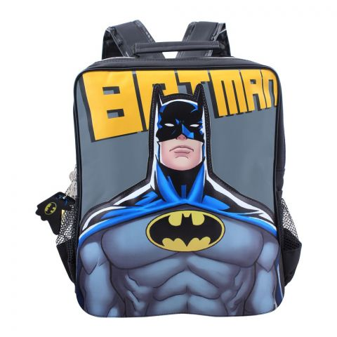 Batman Boys Backpack, Black/Grey, BMNA-5047