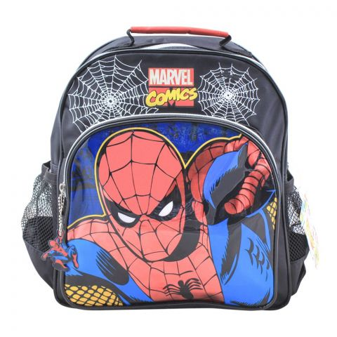Spider Man Boys Backpack, Black, SPNG-5029