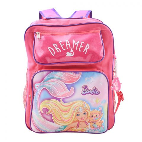Barbie Dreamer Girls Backpack, Pink, PN-72279