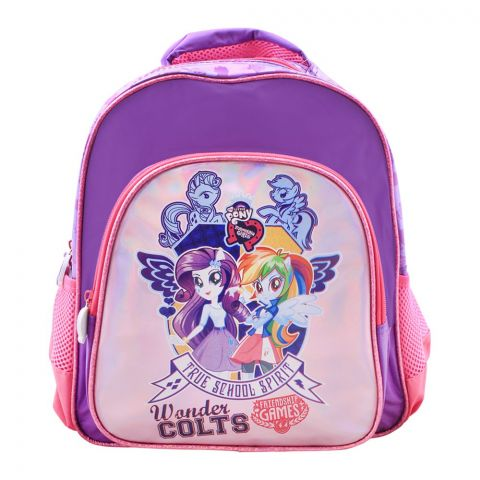 My Little Pony Wonder Colts Girls Backpack, Purple/Pink, EG-07001